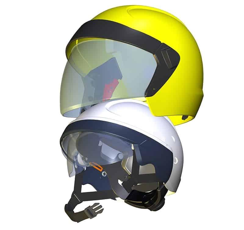 防火头盔结构